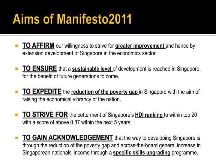 Aims of Manifesto2011