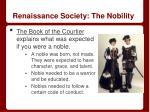 renaissance society the nobility