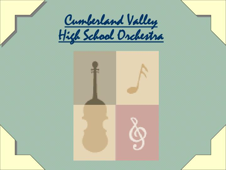cumberland valley high school orchestra n.