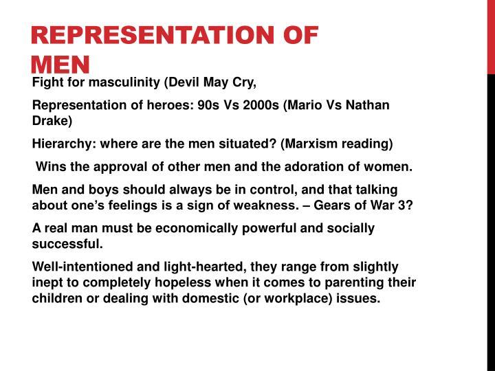 Representation of men