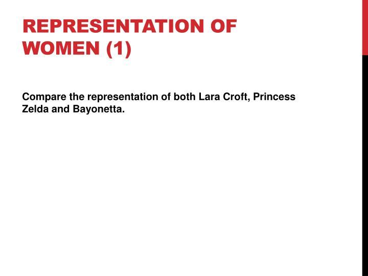 Representation of women (1)