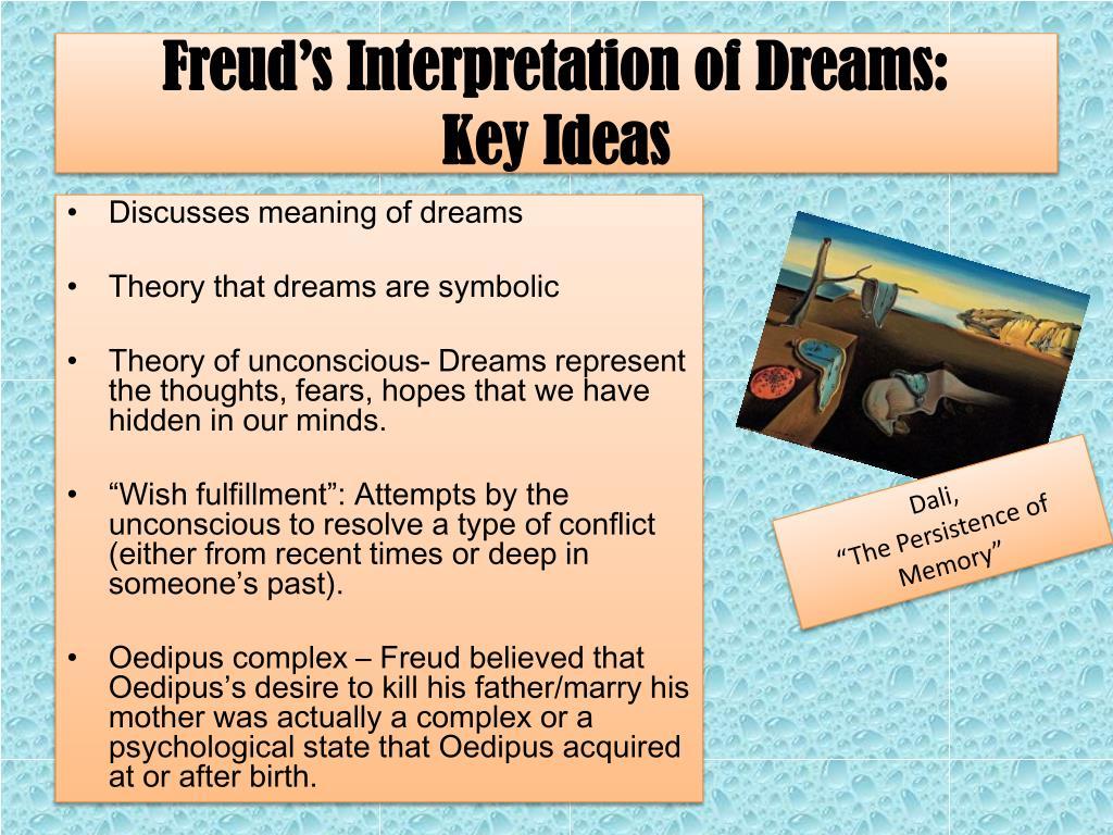 Ppt Freuds Interpretation Of Dreams Key Ideas Powerpoint