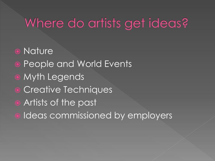 Where do artists get ideas?