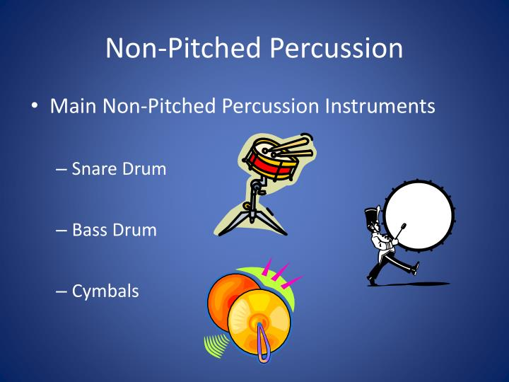 Non pitched percussion1