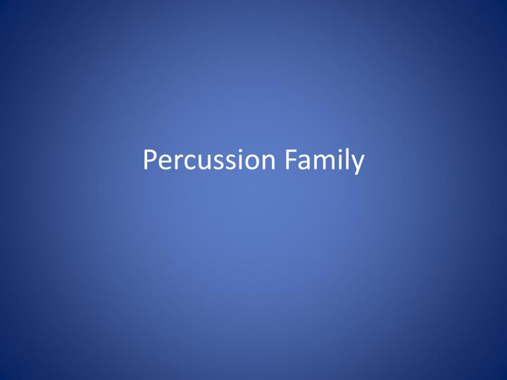 percussion family n.