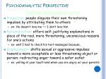 psychoanalytic perspective6