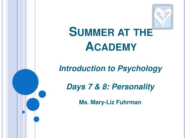 summer at the academy n.