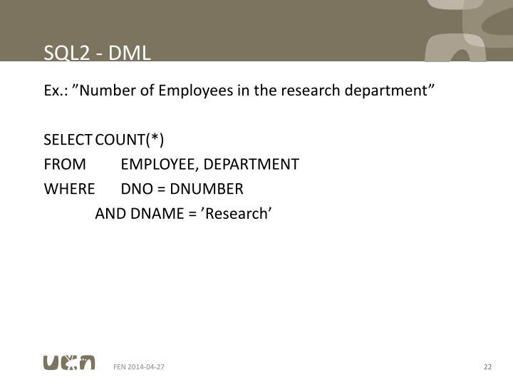 SQL2 - DML