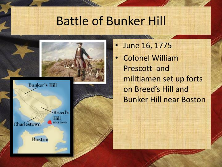 an analysis of the battle on breeds hill and the bunker hill The battle of bunker hill the story of bunker hill battle, allen french wrote, is a tale of great blunders heroically redeemed.
