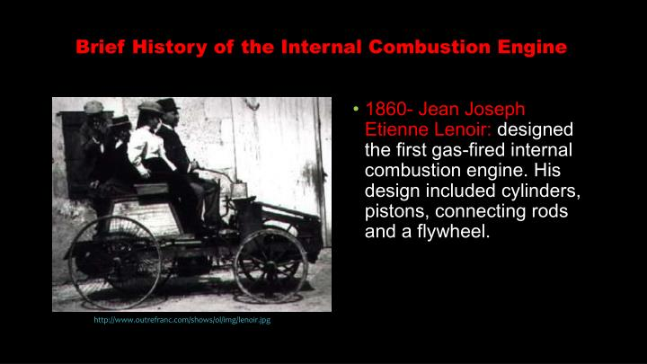 Brief history of the internal combustion engine