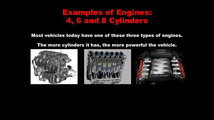 Examples of Engines: