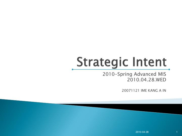 strategic intent n.