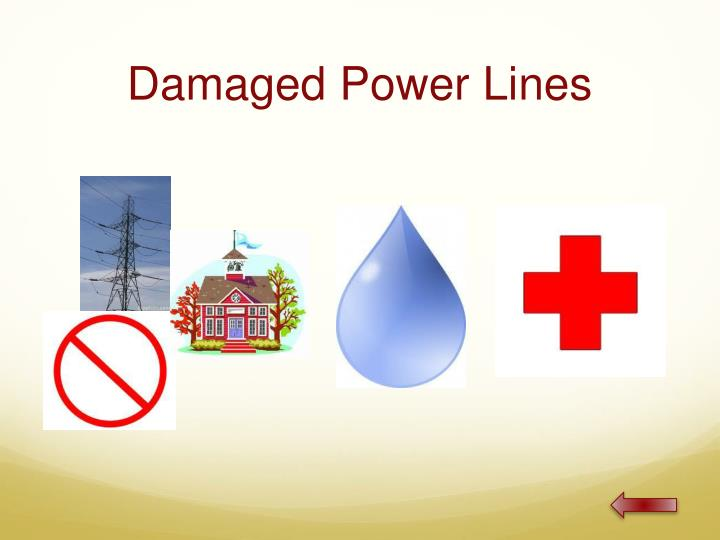 Damaged Power Lines