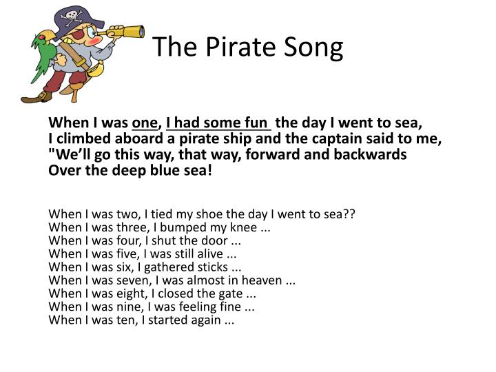 PPT - The Pirate Song PowerPoint Presentation - ID:2617636