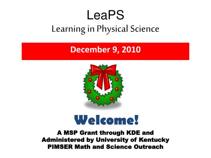 Leaps learning in physical science
