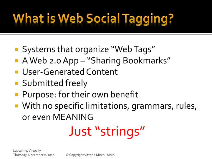 What is Web Social Tagging?