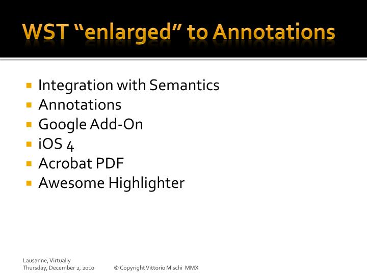 "WST ""enlarged"" to Annotations"