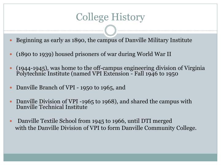 College history