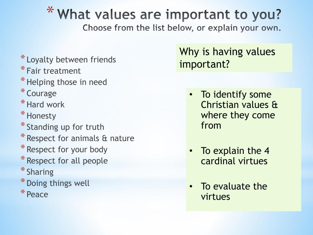 why are values important
