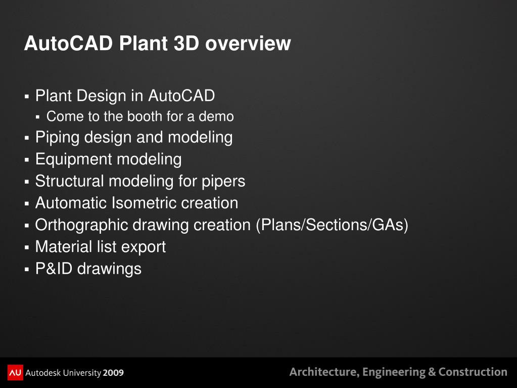 PPT - Executing a First Project in AutoCAD® Plant 3D PowerPoint