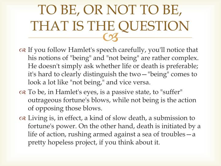meaning of to be or not to be