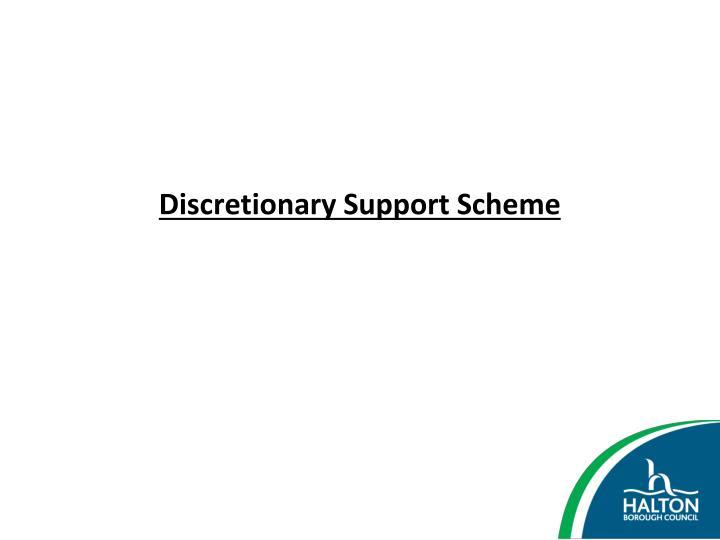 Discretionary Support Scheme