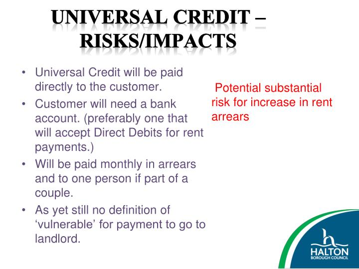 Universal Credit – Risks/Impacts