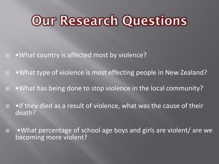 Our research questions
