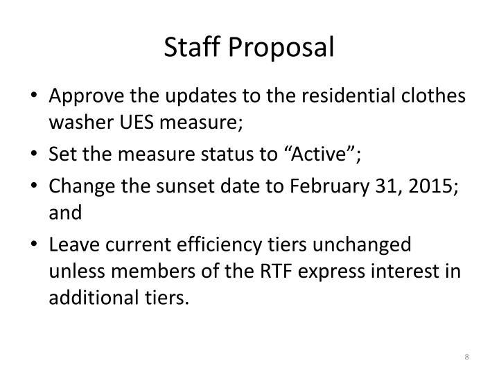 Staff Proposal