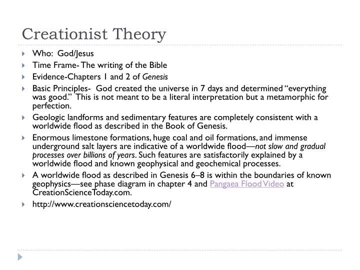 Creationist Theory
