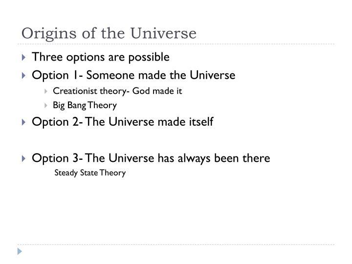 Origins of the universe1