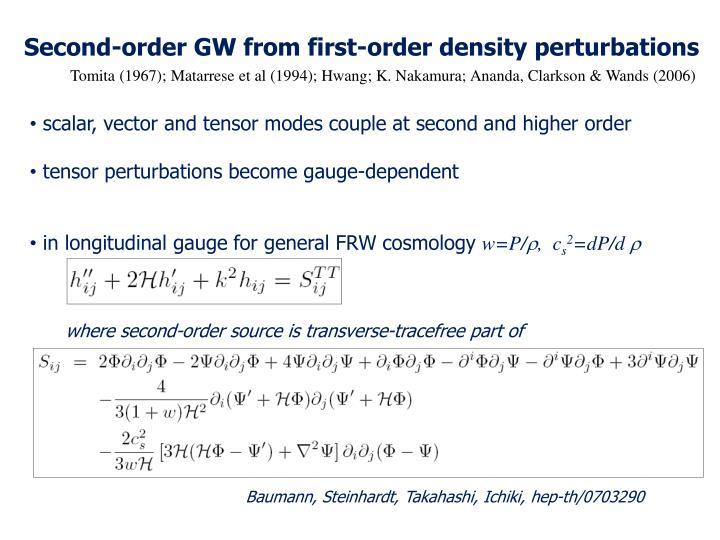 Second-order GW from first-order density perturbations