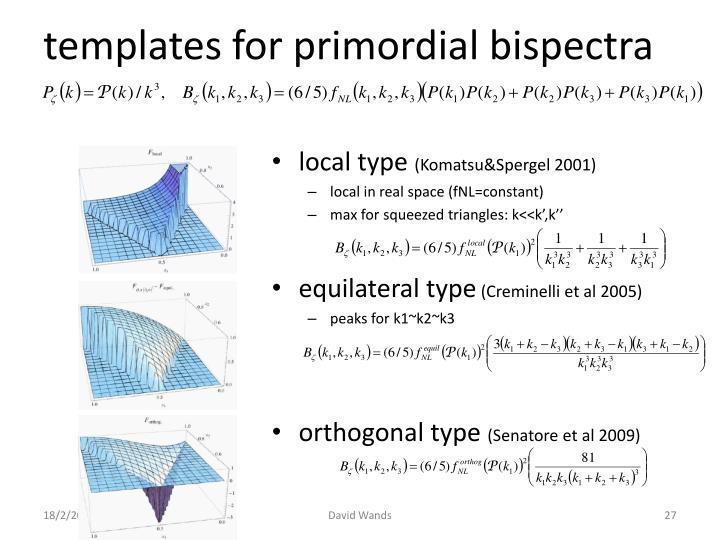 templates for primordial bispectra