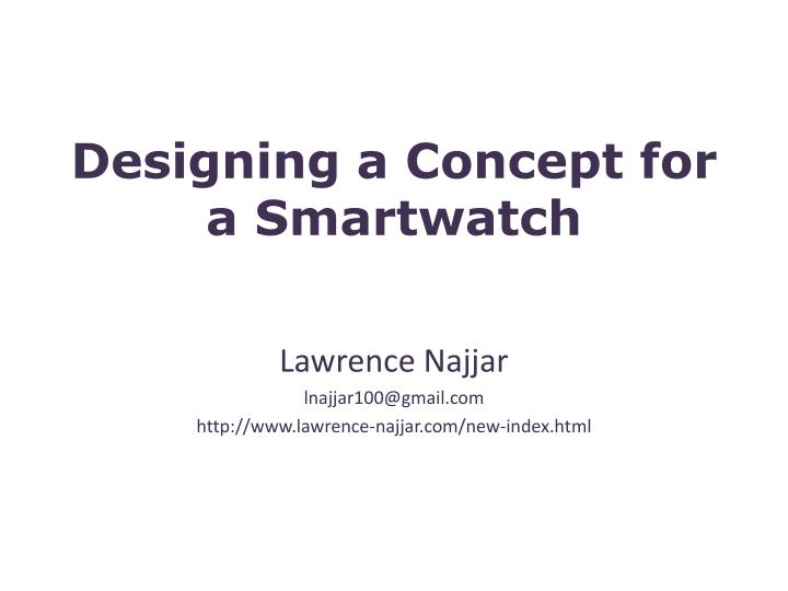designing a concept for a smartwatch n.