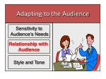 adapting to the audience1