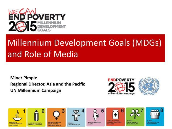 role of youth and millenium development The united nations foundation is committed to helping the un achieve the eight millennium development goals by 2015 develop decent and productive work for youth.