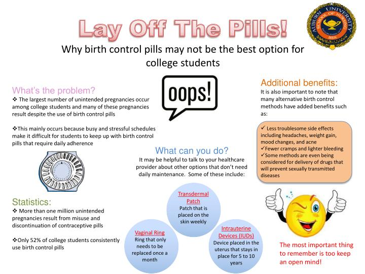 lay off t he p ills why birth control pills may not be the best option for college students n.