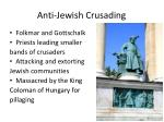 anti jewish crusading