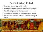 beyond urban ii s call
