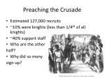 preaching the crusade