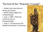 the end of the peasants crusade