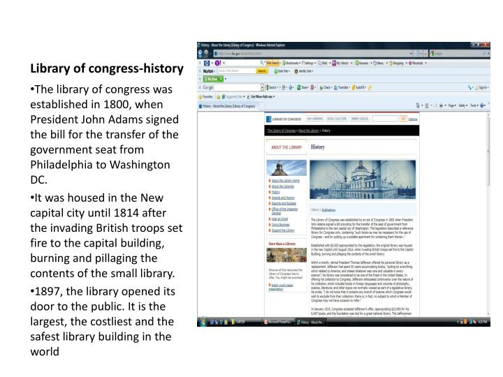 Library of congress-history