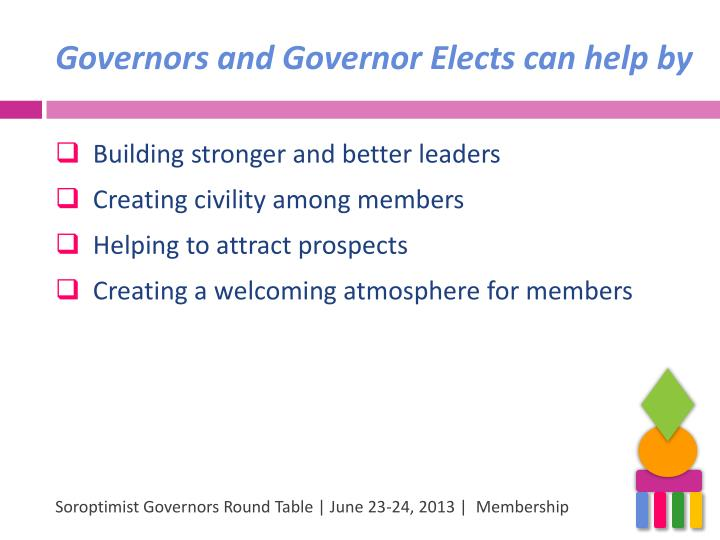 Governors and Governor Elects can help by