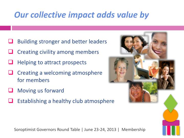 Our collective impact adds value by