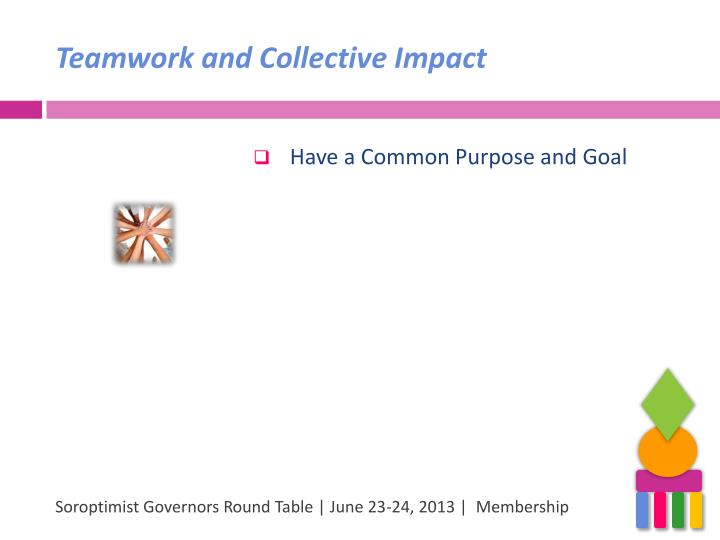 Teamwork and Collective Impact