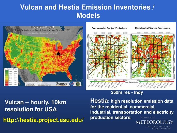 Vulcan and Hestia Emission Inventories /
