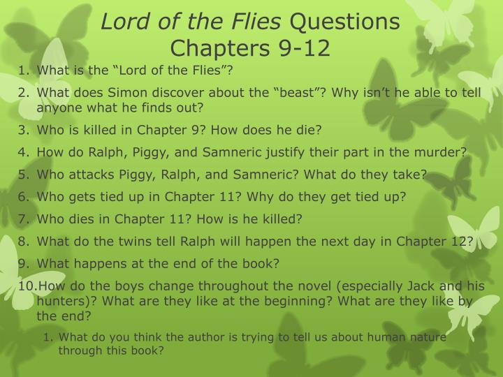 lord of the flies questions chapters 9 12 n.