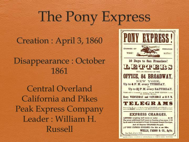 the pony express n.