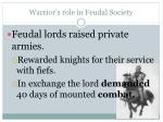 warrior s role in feudal society