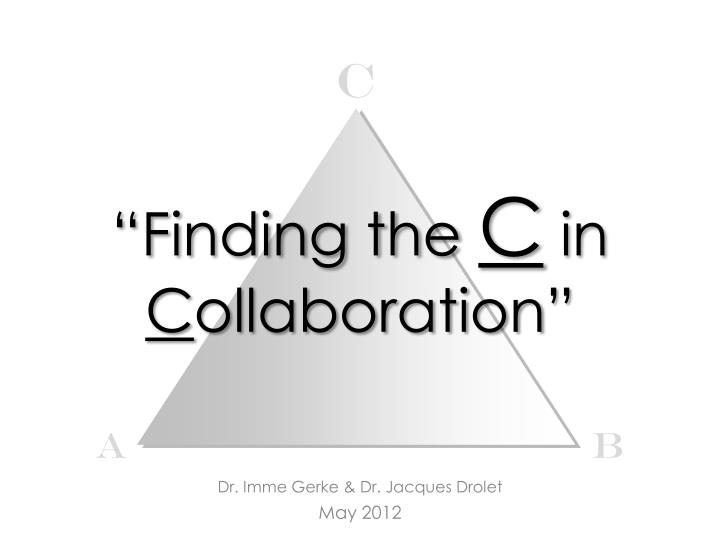 finding the c in c ollaboration n.
